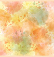 watercolor autumn pastel background vector image vector image
