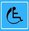 wheelchair - disabled icon vector image vector image