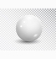 white sphere isolated on transparent background vector image