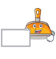 with board dustpan character cartoon style vector image vector image