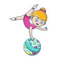 woman acrobat icon cartoon style vector image