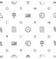 world icons pattern seamless white background vector image vector image