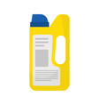 yellow plastic container for washing or laundry vector image