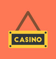 flat icon on background poker casino sign vector image