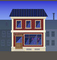 a small grocery store in the old house vector image vector image