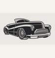 a vintage classic car vector image