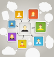 Abstract scheme of social network vector image vector image