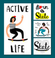 active life girl banners teenage vector image