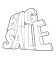 Big sale lettering icon outline style vector image vector image