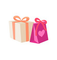 birthday gifts in cartoon style vector image vector image