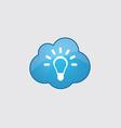 Blue cloud idea icon vector image vector image