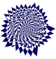 blue sweeping pattern creates an optical vector image vector image