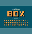 bold font and shadow alphabet square typeface vector image vector image