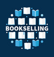 bookselling round flat - vector image vector image