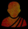 bright dot buddhist monk icon vector image vector image
