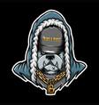 bulldog rap vector image