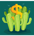 Cactus Money vector image
