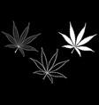 cannabis cannabis leaf set vector image vector image
