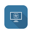 cardiogram and medical services icon flat design vector image vector image