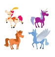 Cartoon horse character vector image vector image