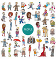 cartoon people characters set vector image vector image