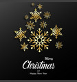 christmas greeting card background with shining vector image vector image