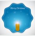 Christmas round sticker made in blue with burning vector image vector image