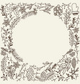 christmas winter floral sketch template vector image vector image
