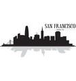 city san francisco skyline silhouette vector image