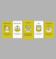 collection hostel elements onboarding vector image