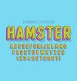 comical linear font design colorful alphabet vector image vector image