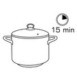 cooking pan pot isolated on white background vector image vector image