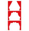 Curtain set flat style vector image