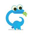 cute diplodocus walking dinosaur life vector image
