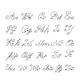 Doodle font isolated on white vector image vector image