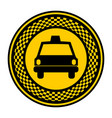 emblem taxi front car icon vector image vector image