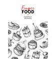 finger food drawing catering service vector image