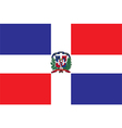 Flag of the Dominican Republic vector image