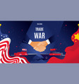 flat china and usa trade war concept vector image vector image