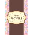 flower garden card vector image vector image