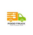 food truck logo design template restaurant icon vector image vector image