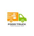 food truck logo design template restaurant icon vector image
