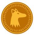 fox head digital coin vector image