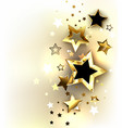 gold stars on a light background vector image vector image