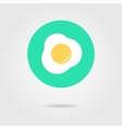 green scrambled eggs icon with shadow vector image