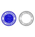 grunge zero commission textured stamp seals vector image vector image