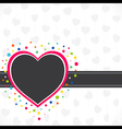 happy valentine day greeting design vector image vector image