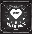 happy valentines day all you need is love stamp vector image vector image