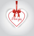 heart shaped sticker for valentines day hanging on vector image