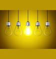 idea concept on yellow background vector image
